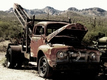 Abandoned Tow Truck in AZ