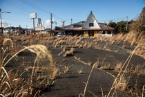 Abandoned town in radiation zone Fukushima Japan