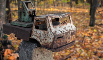 Abandoned toy truck found outside a children school in Chernobyl