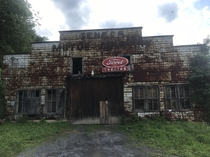 Abandoned tractor dealership at Seneca Rocks WV