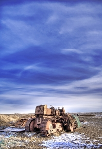 Abandoned tractor in Iceland