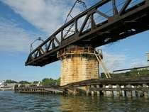 Abandoned train bridge over the Fox River Green Bay WI