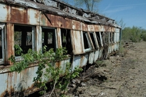 Abandoned train car near Danville Illinois