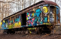 Abandoned Train Car on the Rails - Lambertville New Jersey