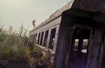 Abandoned train carriage somewhere in Kazakhstan