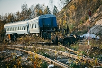 Abandoned train coach near Minsk Belarus