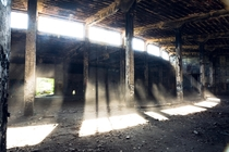 Abandoned train roundhouse in Manchester NY Damaged by fire Album in comments