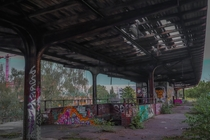 Abandoned train station in Berlin