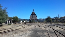Abandoned train station in San Rosendo Chile