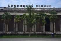 Abandoned train station in Sukhumi Abkhazia a de facto state declaring independence from Georgia