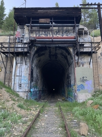Abandoned train tunnel High Rockies CO