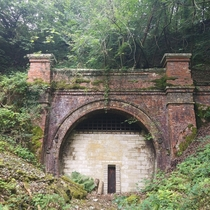 Abandoned train tunnel in West Sussex England