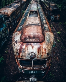 Abandoned trains near Pittsburgh Pennsylvania