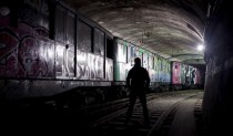 Abandoned trains stored in disused Paris subway tunnel