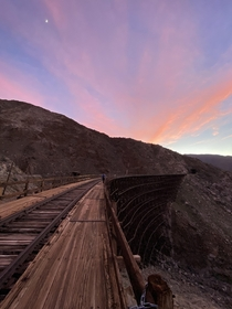 Abandoned Trestle in California - currently the largest wooden trestle in the world