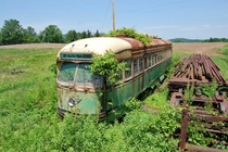 Abandoned Trolley Car Philadelphia by Mark Szilagyi  more in comments