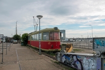 Abandoned trolley-thing in Amsterdam
