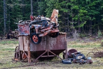 Abandoned truck dumped on top of some abandoned mining equipment Darrington Wa