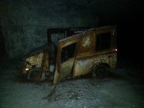 Abandoned Truck in a Derelict Cave Kansas City MO