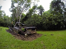 Abandoned truck in Belize Mountains
