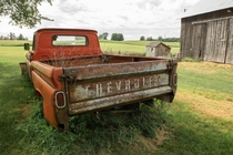Abandoned truck on a farm in Michigan