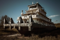 Abandoned Tugboat L Wade Childress - Prairie Du Chien WI