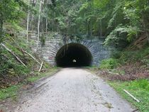 Abandoned Tunnel on the road to nowhere North Carolina  x