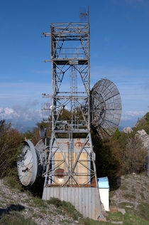 Abandoned TV signal repeater in Monte Faito Italy