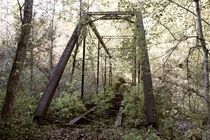 Abandoned Tweetsie Railroad trestle East TN amp Western NC railroad deep in the woods of Carter County TN Built in the s and abandoned in
