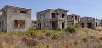 Abandoned unfinished holiday homes Cyprus