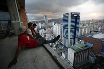 Abandoned unfinished skyscraper in Caracas Jorge Silva