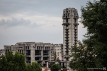 Abandoned unfinished socialist-era building project in the center of Shumen Bulgaria  SOURCE IN COMMENTS