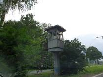 Abandoned USSR watchtower in central europe Austrian Hungarian border