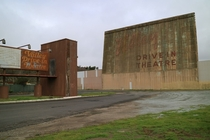Abandoned Valley Drive-In movie theater - Lompoc CA