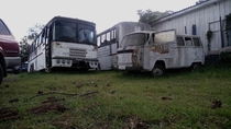 Abandoned vehicles in UFSM campus Santa Maria RS Brazil x