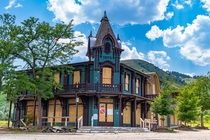 Abandoned Victorian theme park general store Golden CO