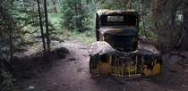 Abandoned vintage car near Hanging Lake CO