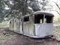 Abandoned vintage RV found in the hills