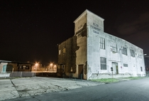 Abandoned warehouse at night Parchim Germany