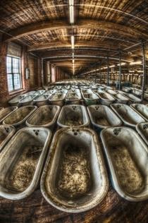 Abandoned Warehouse of Bathtubs by FRANK_C_GRACE