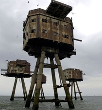 Abandoned wartime Redsands forts