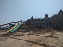 Abandoned water park and hotel NE China coast
