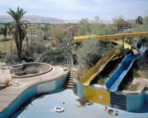 Abandoned water park Dead Sea
