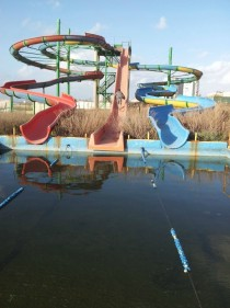 Abandoned water park slides northern Israel