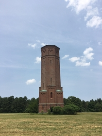 Abandoned water tower I visited at Pilgrim Psychiatric Center on Long Island