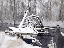 Abandoned watermill Toms River NJ USA