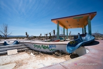 Abandoned Waterpark in the Mohave Desert