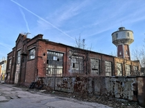Abandoned watertower and hall