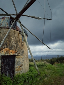 Abandoned windmill in Portugal