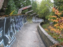 Abandoned  winter olympic bobsleigh track Sarajevo-Bosnia